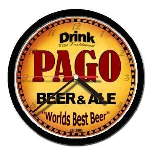 PAGO beer and ale cerveza wall clock: Everything Else