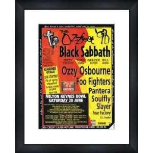 OZZY OSBOURNE Ozzfest 1998   Custom Framed Original