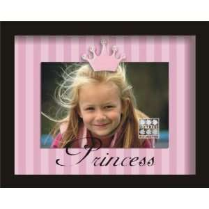 Sixtrees Princess Black Crown Clip 4 Inch by 6 Inch Frame:
