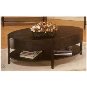 Coaster Gough Oval Coffee Table with Shelf Furniture & Decor