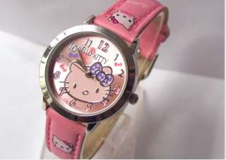 Fashion Hello Kitty Girls Quartz Sport ODM Watch Wrist watch Pink