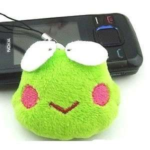 Cute Green Frog Face Cell Phone Charms/Phone Chain/Phone