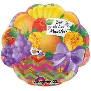 18 Dia De Los Muertos Fruit Basket Balloon Toys & Games