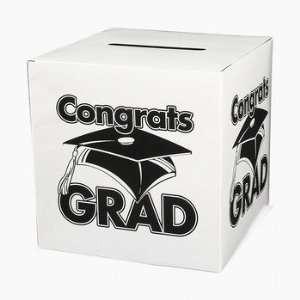 Congrats Grad Money Gift Card Box Graduation Party Home & Kitchen