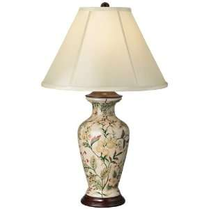 Southern Charm Porcelain Tuscan Floral Table Lamp: Home