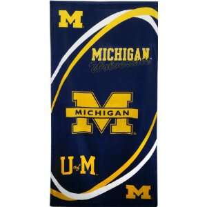 Michigan Wolverines NCAA Beach/Bath 30X60 Towel Sports