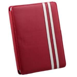 Red Leather Case Pouch Kick Stand For Apple iPad Electronics