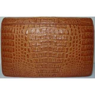 GENUINE CROCODILE Leather Men Handbag Clutch Wallet Purse MCM8 Brown