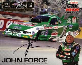 2011 JOHN FORCE AUTOGRAPHED CASTROL GTX NHRA POSTCARD