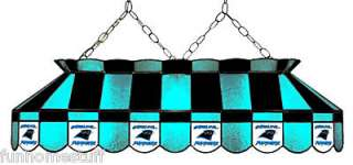 CAROLINA PANTHERS NFL 40 STAINED GLASS BILLIARD POOL TABLE LIGHT BAR