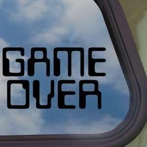 Game Over Black Decal Truck Bumper Window Vinyl Sticker