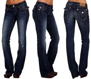 MEK Denim Womens NOIDA Jeans Slim Boot Cut   30 x 34