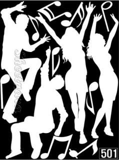 Dance Party Removable Vinyl Wall Sticker Decals WT 501
