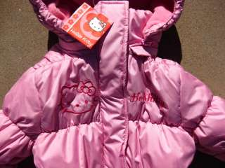 NEW* HELLO KITTY JACKET COAT TOP PINK $60 Girls 2 2T
