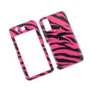 Hard Plastic Phone Design Case Cover Hot Pink Zebra For Samsung Behold
