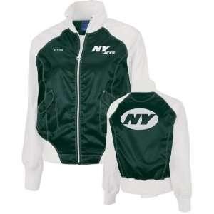 New York Jets  Green/White  Womens Satin Cheerleader Jacket
