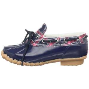 Kids GIRLS Shoes NIB SPERRY Duckie Rain Shoe Boots NAVY or PINK Plaid