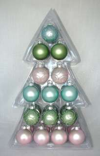 MULTI COLOR GLASS BALL CHRISTMAS/HOLIDAY ORNAMENTS+GLITTER NEW IN BOX