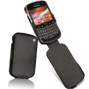 Noreve Premium Black Leather Flip Carry Case Cover for BlackBerry Bold