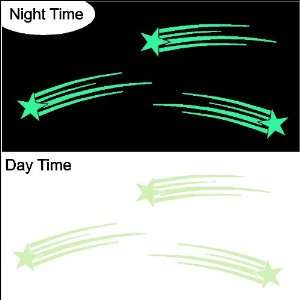 Glow in the Dark Shooting Stars Decals Stickers Removable