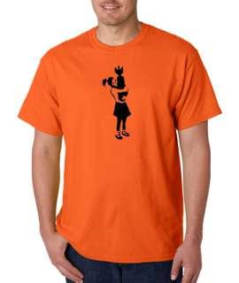 Banksy Bomb Girl Art Graffiti 100% Cotton Tee Shirt