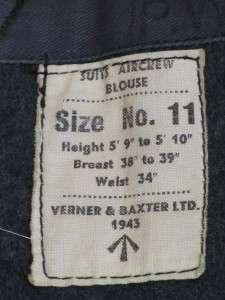 Genuine WW2 RAF Battle Dress Jacket. Dated 1943 &Medals