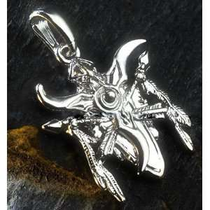 Night Elf Pendant Nekcklace White Gold Plated Office