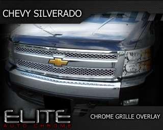 07 11 Chevy Silverado Chrome Grille Overlay 2007 2011
