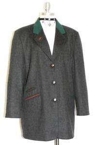 WOOL CASHMERE BLACK German Winter Dress JACKET 42 18 L