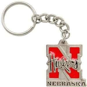 Nebraska Cornhuskers Pewter Primary Logo Keychain Sports