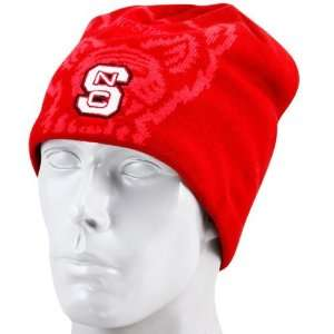 Wolfpack Red Black Mascot Reversible Knit Beanie