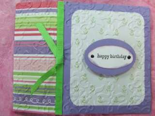 Handmade HAPPY BIRTHDAY Card Embossed LILAC Stampin Up