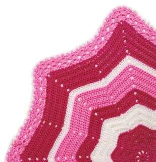 Round Ripple Baby Afghans Circular Crochet Patterns NEW