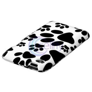 Item Combo Dog Paw Hard Plastic Case Cover for iPod Touch 4 4th 8GB
