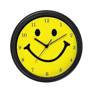 Numbered Smiley Face Humor Wall Clock by CafePress: Home