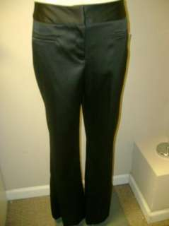Moss Tailor Stretch Black Dress Pant NWT