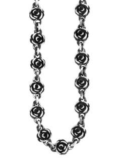 King QUEEN Baby Studio Motif Rose Necklace Chain silver