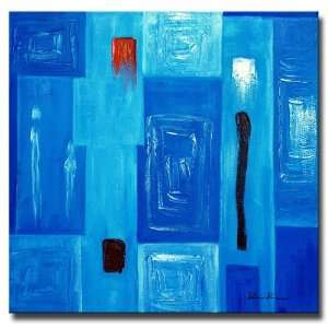 Baby Modern Blue Hand Painted Canvas Art Oil Painting