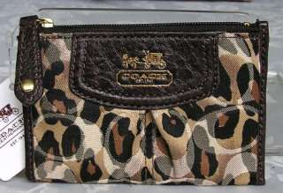NEW COACH MADISON ANIMAL PRINT MINI SKINNY WALLET 46717 NWT