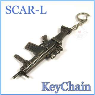 Cross Fire SCAR L Assault rifles Metal Model gun Keychain ring