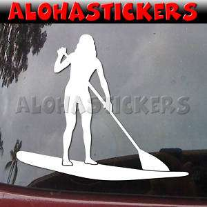 GIRL STAND UP PADDLE BOARD Vinyl Decal SUP Sticker H121