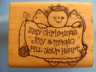 Rubber Stamp May Christmas Joy & Magic Fill Your Heart