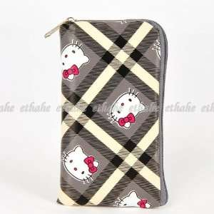Hello Kitty Checks Mobile Cell Phone Holder Gray Cell