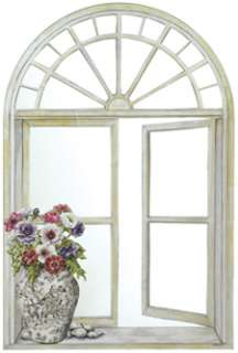 Faux Window Mirror Wall Art Hanging NEW 22x33 Stupell