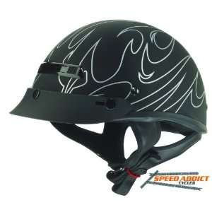 Zox Alto Matte Flame Half Shell Open Face Motorcycle