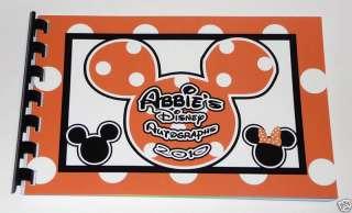 Personalized Disney MICKEY & MINNIE Autograph Book NEW