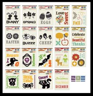 We R Memory Keepers HOLIDAYS CLR STAMPS Halloween Christmas Easter