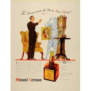 1937 Ad Mount Vernon Rye Whiskey Liquor Alcohol Bottle
