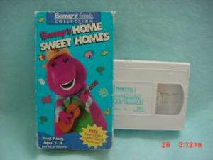 Barney & Friends BARNEYS HOME SWEET HOMES vhs age 1 8 045986990419