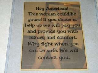 These Flyers were designed to make the troops homesick.
